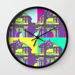 Architecture of Madrid in Pop-Art Puerta de Alcala Wall Clock