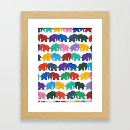 kissing elephants Framed Art Print