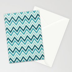 Indie Spice: Turquoise Chevron Stationery Cards