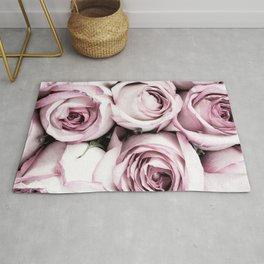 A Cascade of Perfectly Pink Roses Rug