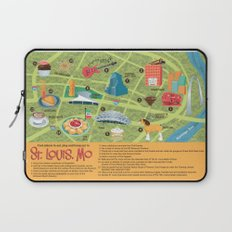 Square Map of St. Louis Laptop Sleeve