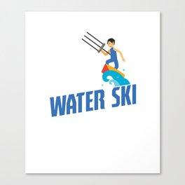 Eat Sleep Water Ski Repeat Water Skiing Skier Canvas Print