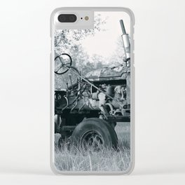 Farmer's Best Friend - B & W Clear iPhone Case