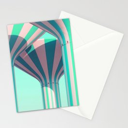 Teal Towers Stationery Cards