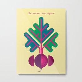 Vegetable: Beetroot Metal Print