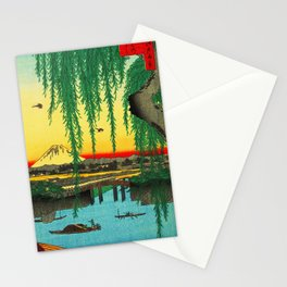 Yatsumi Bridge and Mount Fuji Japan Stationery Cards