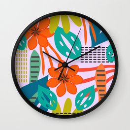 Fresh jungle scene Wall Clock