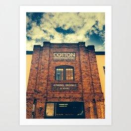 Cotton Exchange Art Print