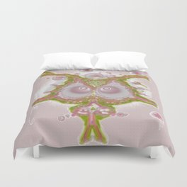 Mind Bubble in pink Duvet Cover