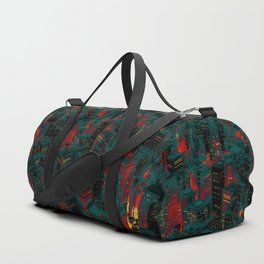 Night city glow cartoon Duffle Bag