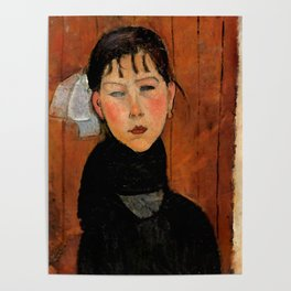 "Amedeo Modigliani ""Marie (Marie, fille du peuple)"" Poster"