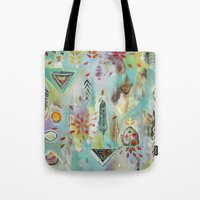 "flora bowley Tote Bags featuring ""Liminal Rights"" Original Painting by Flora Bowley by Flora Bowley"