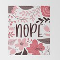 NOPE - Floral Phrases by cutetoboot