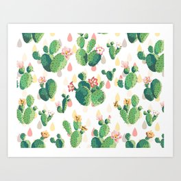 Cactus pattern Kunstdrucke