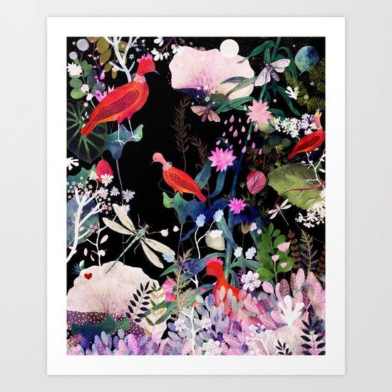 enchanted night Art Print