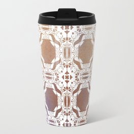 WHITE AND GOLD WATERCOLOR MOSAIC  Travel Mug