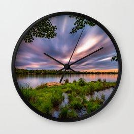 Eagle Lake Sunset - image 4 Wall Clock