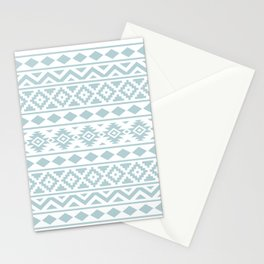 Aztec Essence Ptn III Duck Egg Blue on White Stationery Cards