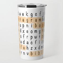 Bookstagram Word Search - Orange Highlighter Travel Mug