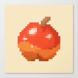 Pixel Art Apple   Animal Villager Canvas Print