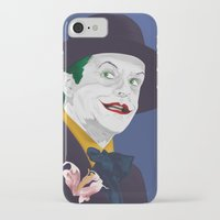 jack nicholson iPhone & iPod Cases featuring Joker Nicholson by FSDisseny