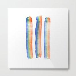 Rainbow Strokes Metal Print