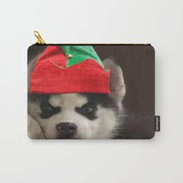 Husky Puppy Elf Carry-All Pouch
