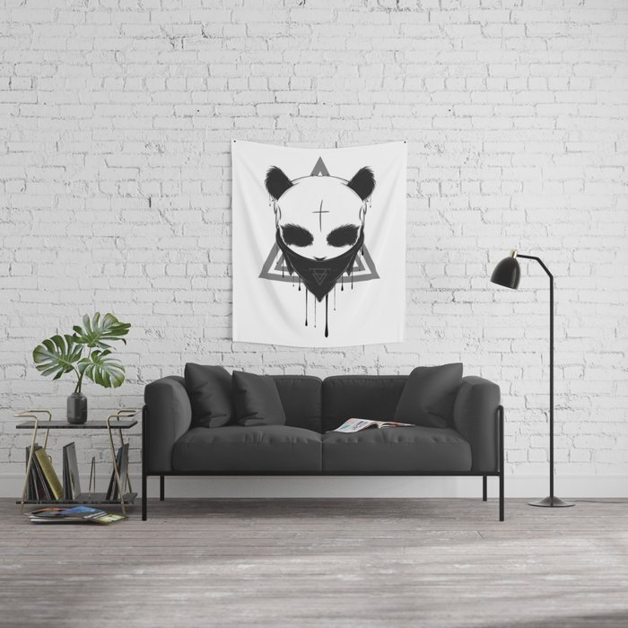 Gangster panda wall tapestry