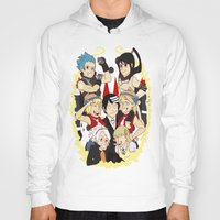 soul eater Hoodies featuring Soul Eater Meisters and Weapons 02 by renaevsart