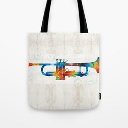 Colorful Trumpet Art Color Fusion By Sharon Cummings Tote Bag