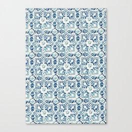 Azulejo IV - Portuguese hand painted tiles Canvas Print