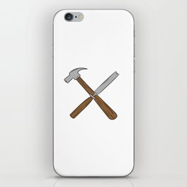 I Turn Wood Into Things What's Your Superpower Perfect T-shirt For Woodworker Tree Nature Design iPhone Skin