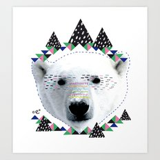 Folk bear Art Print