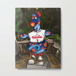 Phillies Statue Metal Print