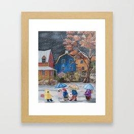 Diane L - Grisaille d'automne Framed Art Print