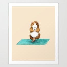 Yoguineas - Tree Pose Art Print