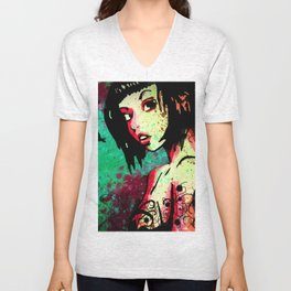 ink-girl Unisex V-Neck