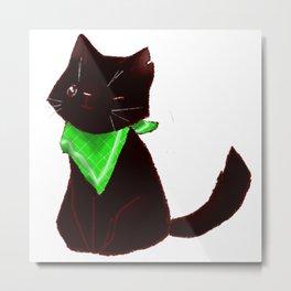 Cat-pirate Metal Print
