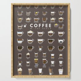 Coffee Chart Serving Tray