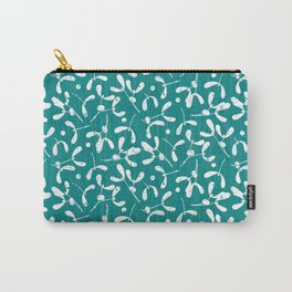 Rustic Mistletoe - Teal Carry-All Pouch