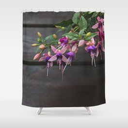 Fuchsia And Wood Shower Curtain