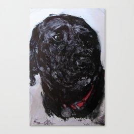 Black Lab Love Canvas Print