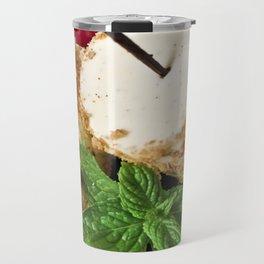 Brittle hazelnut ice cream, with black cherries Travel Mug