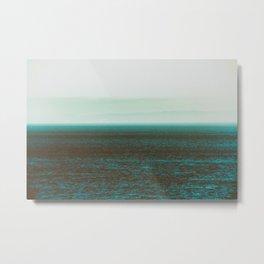 Sea front green Metal Print