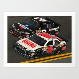The #Earnhardt's at #Daytona Art Print