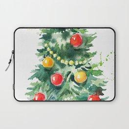 Christmas Tree Watercolors Illustration Laptop Sleeve