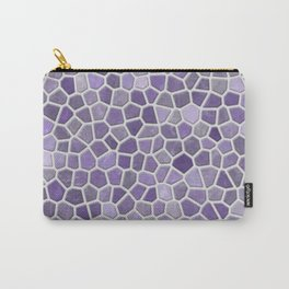 Faux Stone Mosaic in Lavender Carry-All Pouch