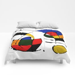 In the Style of Miro Comforters