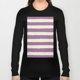 purple stripe Long Sleeve T-shirt