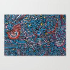 Drawing Meditation - Blue Canvas Print